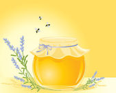Honey and lavender — Stock Vector