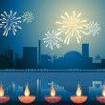 Diwali festival — Stock Vector #9338235