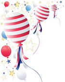 July fourth balloons — Stock Vector