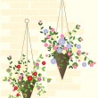 Stock Vector: Hanging basket