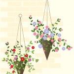 Hanging basket — Stock Vector #9922794