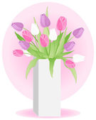 Tulip vase — Stock Vector