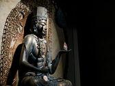 青铜佛像 — 图库照片