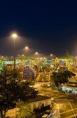Porto di singapore al crepuscolo — Foto Stock