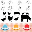 Farm animals — Stock Vector #10219360
