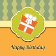 Birthday card, gift - 图库矢量图片