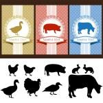 Labels food — Stock Vector