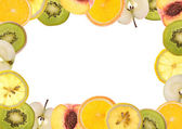 Fruit border — Stock Photo