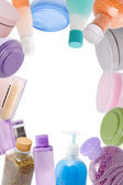 Frame made of cosmetics — Stock Photo