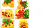 Collage of macaroni — Stock Photo