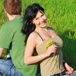 Young beautiful couple outdoor — Stock Photo #8944059