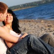 Stock Photo: Couple on the beach