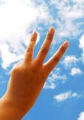 Hand on sky — Stock Photo