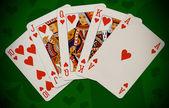 Poker.Royal flush — Stock Photo