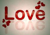 Love word — Stock Photo