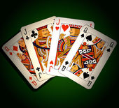 Poker. Two pairs — Stock Photo