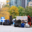 Stock Photo: Occupy Montreal Movement Sit-in