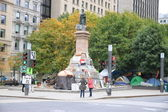Occupy Montreal Movement Camp — Stock Photo