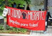 Dignidad Migrante Banner — Stock Photo