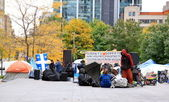Occupy Montreal Movement Sit-in — Stock Photo