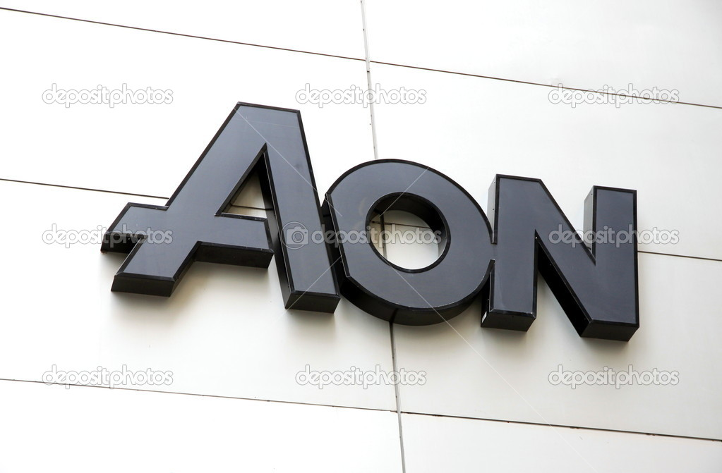 The AON sign outside the headquarter in Montreal — Stock Photo #10015250