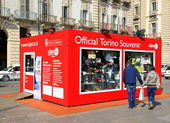 Souvenir Shop in Turin — Stock fotografie