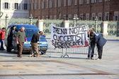 Italian Railway Personnel Protest — Stock Photo
