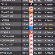 Departures Board — Stock Photo