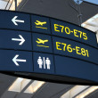 Airport Signs — Stock Photo