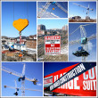 Construction Site Collage - Foto Stock
