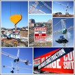 Construction Site Collage — Stockfoto
