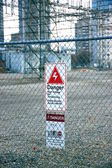 Segno di pericolo — Foto Stock