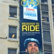 Ride to Conquer Cancer Banner — Stock Photo