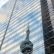 CN Tower Reflected — Lizenzfreies Foto