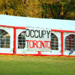 Occupy Toronto Camp — Stock Photo