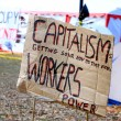 Stock Photo: Anti Capitalism Sign