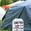 Anti Rob Ford Sign — Stock Photo