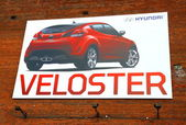 Hyundai Veloster Ad — Stock Photo