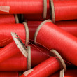 Red Spools - Stock Photo