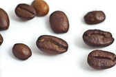 Isolated Coffee Beans — Stock Photo