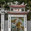 Mural at entrance Ngoc Son temple. — 图库照片 #10731183