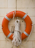 Life buoy with rope. — Stock Photo