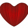 Royalty-Free Stock Vector Image: The heart of it written in the words I love you