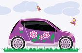 Women's car — Stock Vector