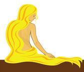 Girl with golden hair — Stock Vector