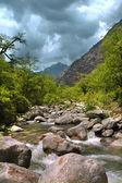 Mountain river, Himalayas — Stock Photo