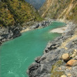 River in a mountain gorge, India — Stock Photo