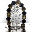 Jewelry, bracelet with water splash — Stockfoto