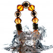 Jewelry, bracelet with water splash — Foto Stock