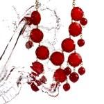 Jewelry, bracelet with water splash — Stock Photo